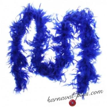 Карнавальный шарф перо (Боа) синий 1,8 метра