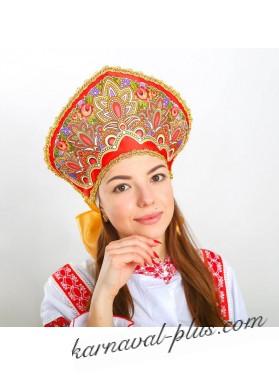 Карнавальный Кокошник Павлово-Посадский узор