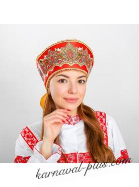 Кокошник Павлово-Посадский узор прямой