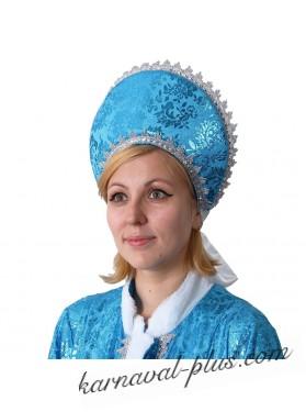 Кокошник Узоры, цвет голубой