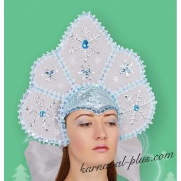 Кокошник - корона, голубая