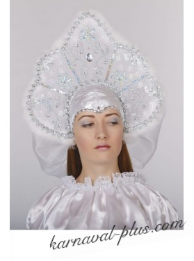 Кокошник - корона, белая