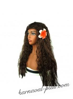 Гавайский парик с цветком