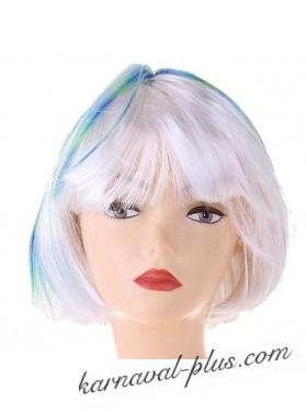 Карнавал парик каре Блонд трехцветное