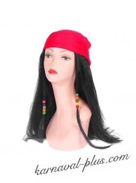 Карнавальный парик с косичками в бандане