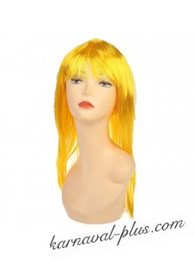 Карнавальный парик Красотка, цвет желтый