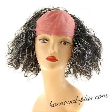 Карнавальный парик Лысина-седые локоны