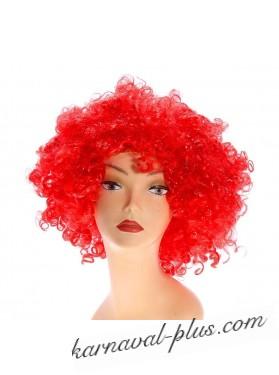 Карнавальный парик объемный, красный