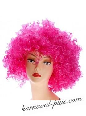 Карнавальный парик объемный, малиновый