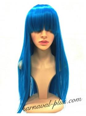 Карнавальный парик Премиум с челкой, цвет синий