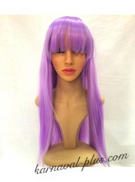 Карнавальный парик Премиум с челкой, цвет сиреневый