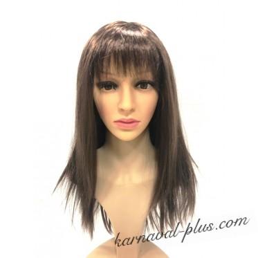 Карнавальный парик Шатенка средней длинны