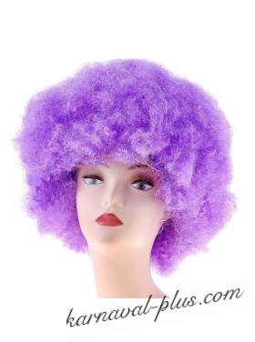 Карнавальный парик световой, мелкие кудри, фиолетовый