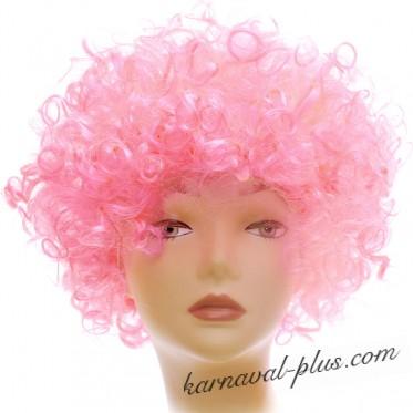 Карнавальный парик мелкие кудри, светло-розовый
