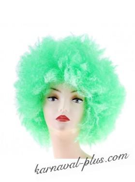 Карнавальный парик объем , мелкие кудри, зеленый