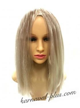 Карнавальный парик Удлиненное каре, цвет пепельный блонд