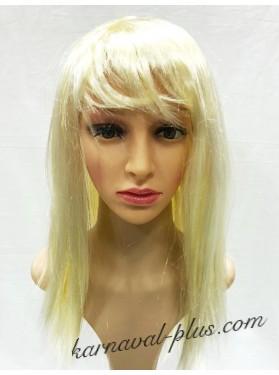 Карнавальный парик Средней длины Жемчужного цвета