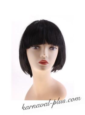 Карнавальный парик Каре, цвет чёрный