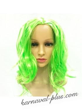 Карнавальный Зеленый парик с кудрями