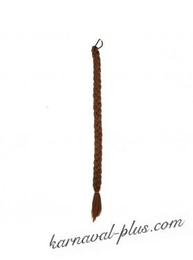 Коса на резинке Темно-русый, длина 66 см