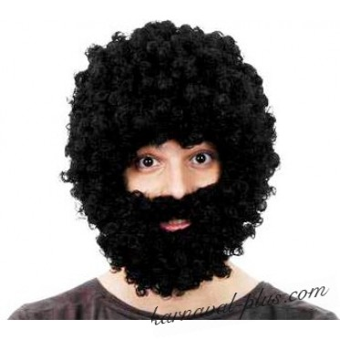 Парик Афро с бородой