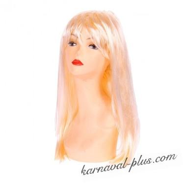 Парик Блондинка длинные прямые локоны