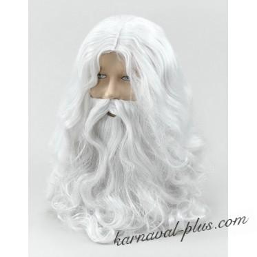 Парик и борода Деда Мороза/Волшебника