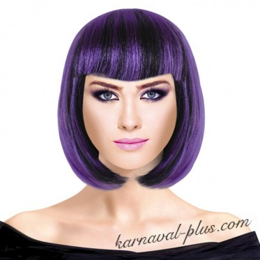 Парик Каре Микс, цвет черно-Фиолетовый