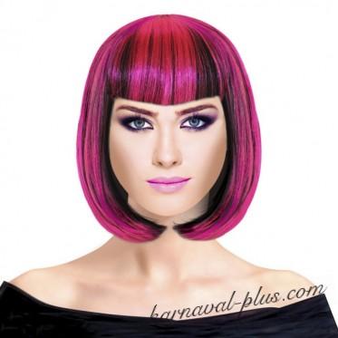 Парик Каре Микс, цвет черно-розовый