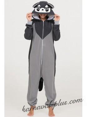 Пижама-кигуруми Футужама Серый енот