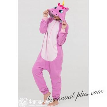 Пижама-кигуруми Футужама Единорог лиловый