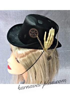 Карнавальная мини-шляпка Стимпанка
