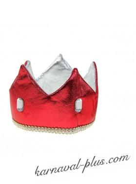 Карнавальная корона Принц красная