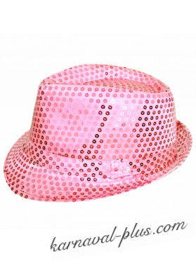Карнавальная шляпа Диско розовая