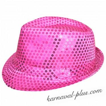 Карнавальная шляпа Диско сиреневая