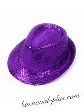 Карнавальная шляпа Диско фиолетовая