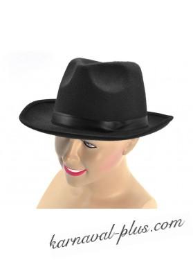Карнавальная шляпа Гангстер с черной лентой