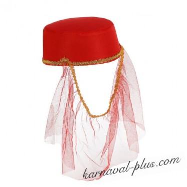 Карнавальная шляпа Шахерезады с вуалью