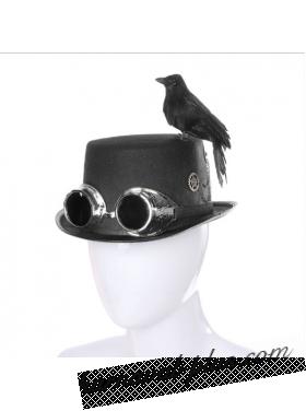 Карнавальная шляпа Стимпанк с вороной