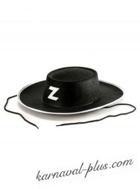 Карнавальная шляпа Зорро,фетр