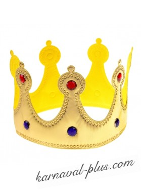 Корона золотая со стразами, текстиль