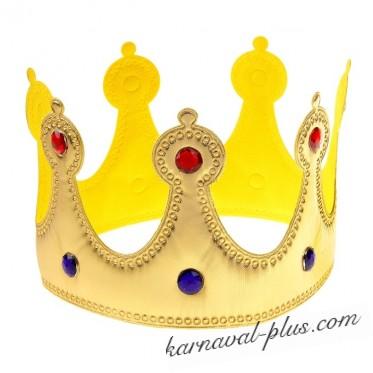 Корона золотая со стразами