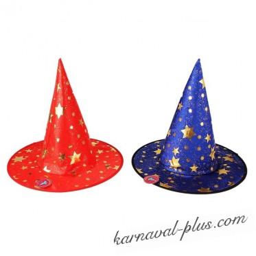 Шляпа карнавальная Звездочет/Волшебник, цвета микс