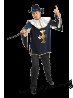 Костюм Мушкетер синий взрослый