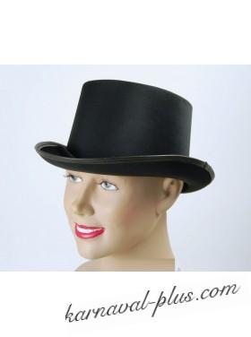 Шляпа Цилиндр Черный ,сатин