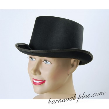 Шляпа Цилиндр Черный, сатин