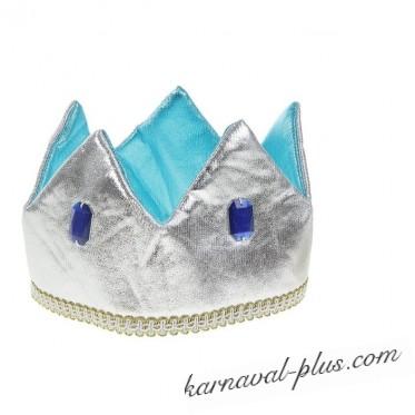 Карнавальная корона Принц серебро