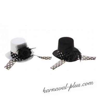 Карнавальная шляпка Цилиндр с лентой, 2 цвета