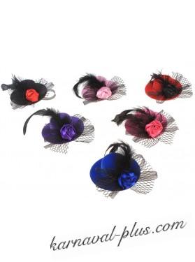 Карнавальная шляпка-зажим Сказка, цвета микс