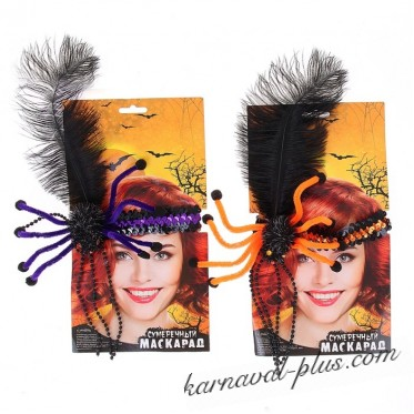 Карнавальный аксессуар на голову Паук, цвета МИКС